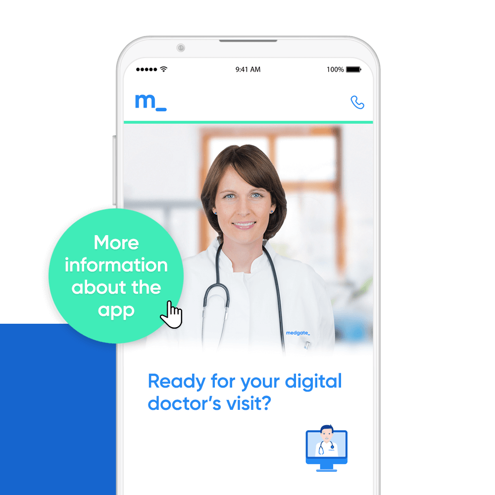 With the Medgate App you always have the doctor with you.